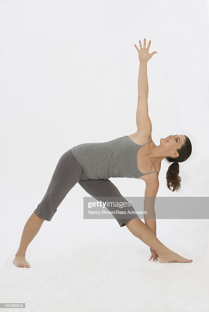 Caucasian Woman doing  Yoga. : Stock Photo