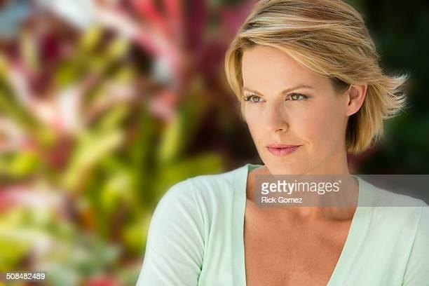 Caucasian woman outdoors