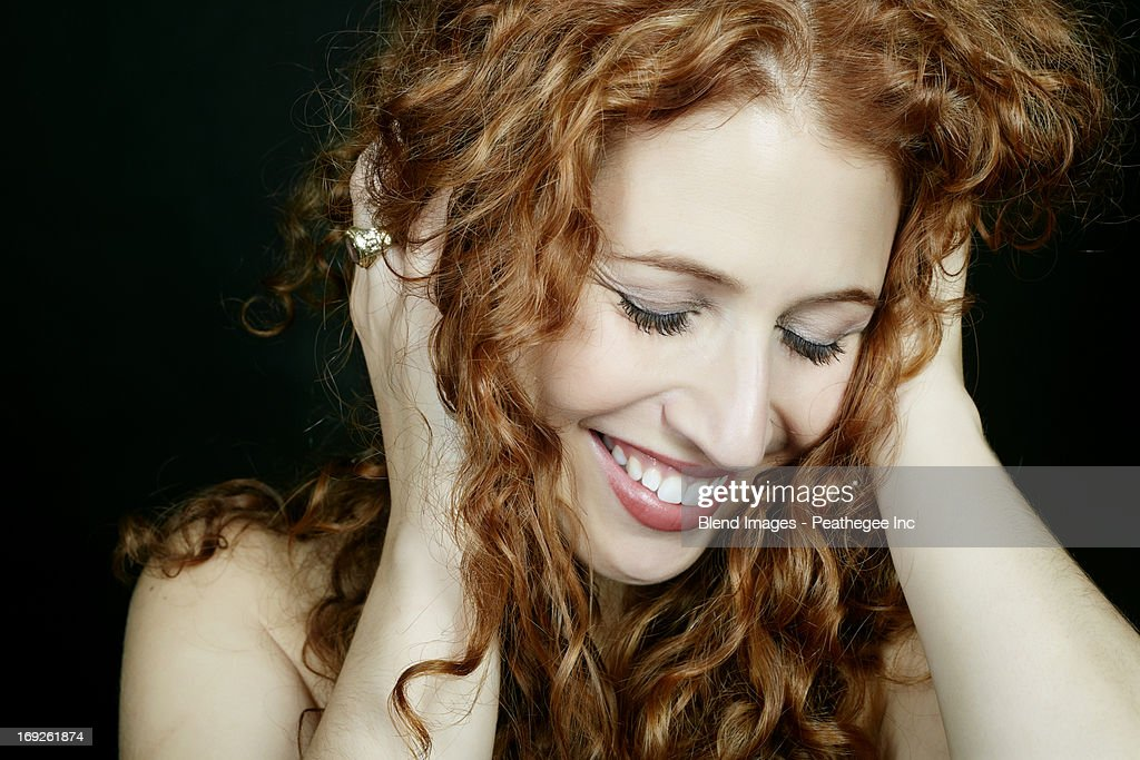 Caucasian woman smiling
