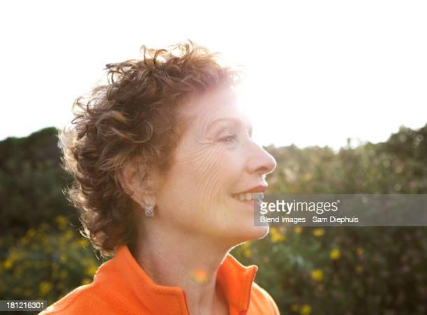 Caucasian woman standing outdoors