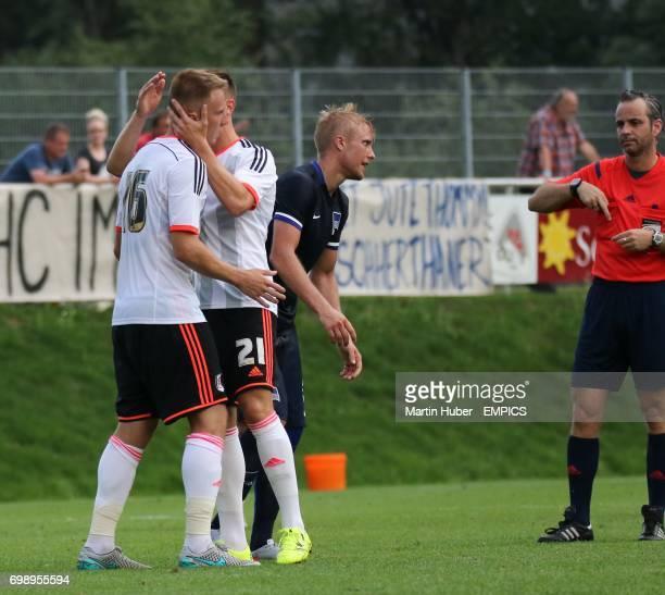 Cauley Woodrow und Lasse Vigen Christensen celebrate a goal
