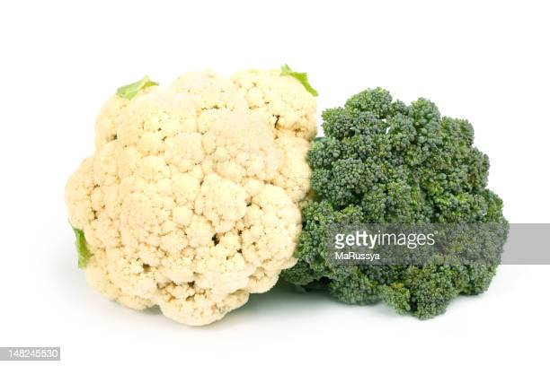 Cauliflower and broccoli together