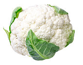 Cauliflower isolated on white, clipping path