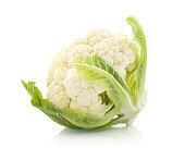 Fresh cauliflower on withe background