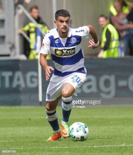Cauly Oliveira Souza of Duisburg am Ball controls the ball during the Second Bundesliga match between MSV Duisburg and VfL Bochum at...