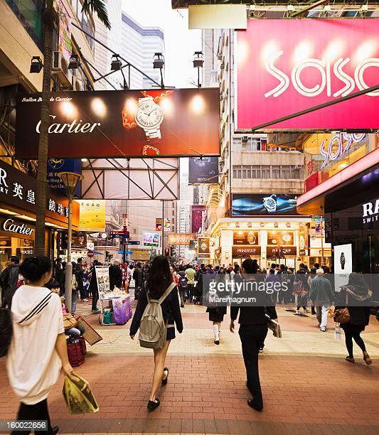 Causeway Bay, people in Russel Street