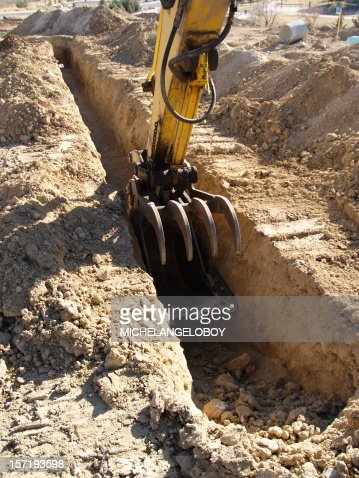 Caution Open Pipe Trench
