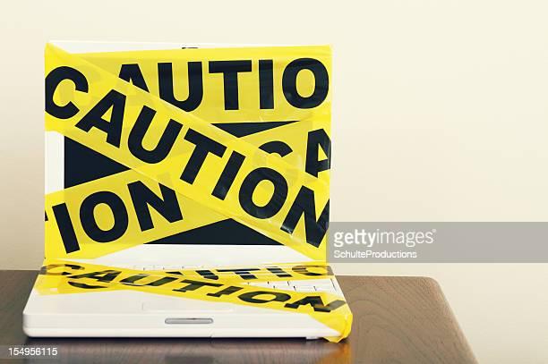 Caution Tape Laptop