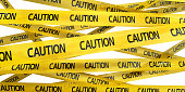 3d render Caution Tape (isolated on white and clipping path)