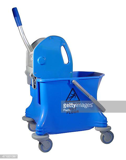 Caution wet floor bucket (mop  squeezer)