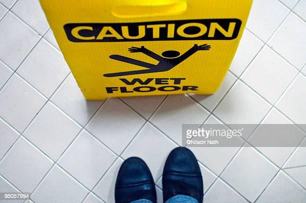 Caution! Wet Floor Sign
