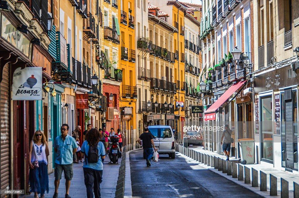 Cava Baja street in Madrid, Spain : Stock Photo