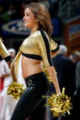 Cavalier girl performs during a break in the game between the Cleveland Cavaliers and the Utah Jazz on November 16 2007 at Quicken Loans Arena in...