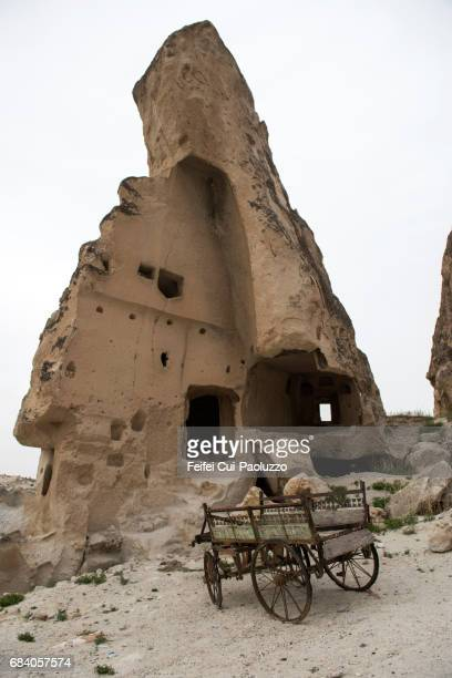 Cave in a fairy chimney at old town of Göreme, Turkey