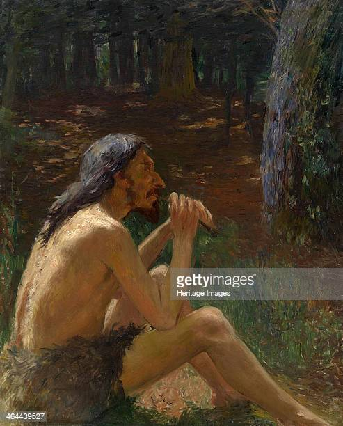 Caveman Playing the Flute From a private collection