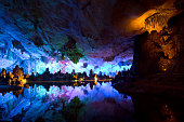 Cavern and water in Guilin, China
