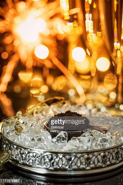 Caviar o champán