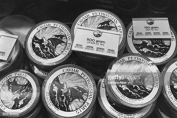 Caviar on display at Bloomingdale's New York City USA 1981