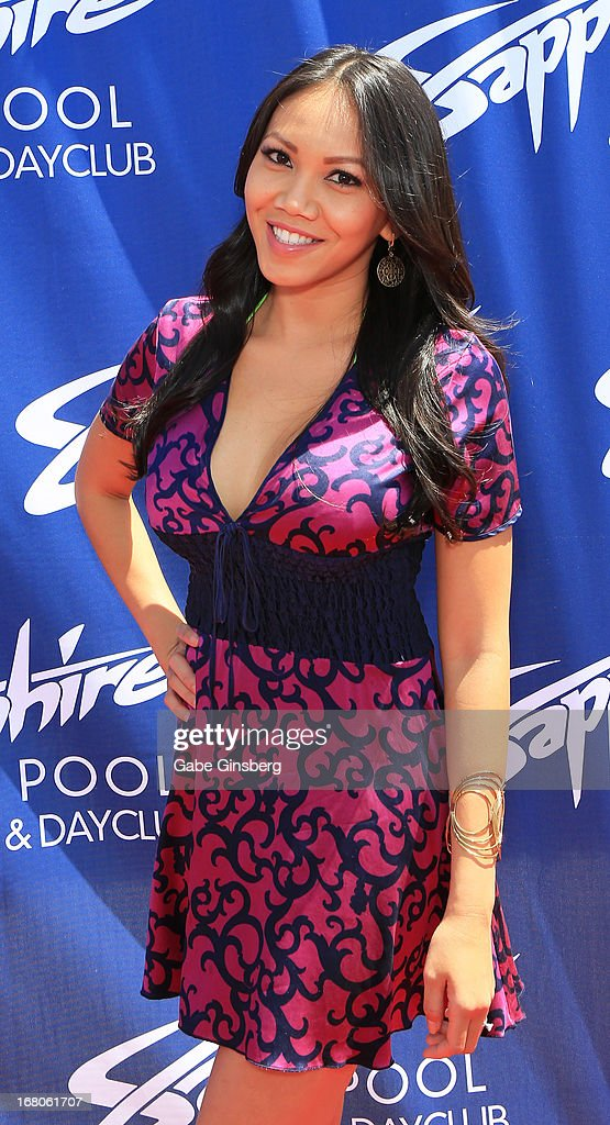 Caya Hefner arrives at the Sapphire Pool & Day Club grand opening party on May 4, 2013 in Las Vegas, Nevada.