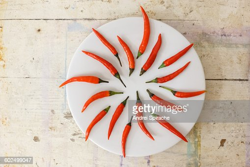 Cayenne peppers on a plate