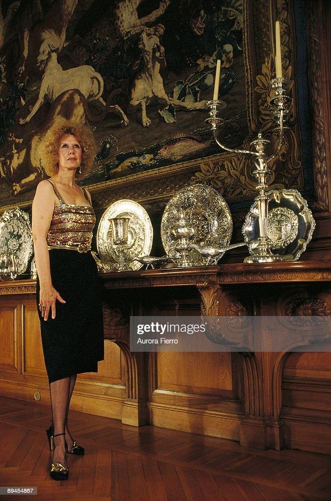 Cayetana Fitz James, duchess of Alba, in the Liria Palace