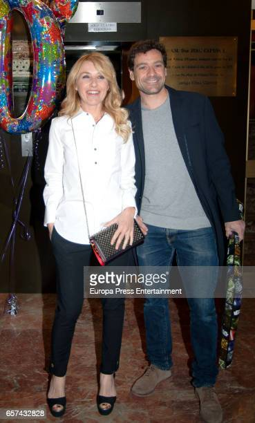 Cayetana Guillen Cuervo and Omar Ayyashi attend the Monica Cruz's 40th birthday party on March 14 2017 in Madrid Spain