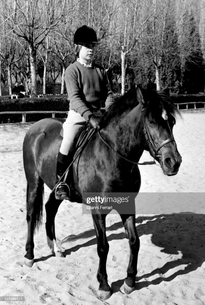 Cayetano Count of Salvatierra son of the Duchess Cayetana of Alba in the 'Club de Campo' Madrid Spain