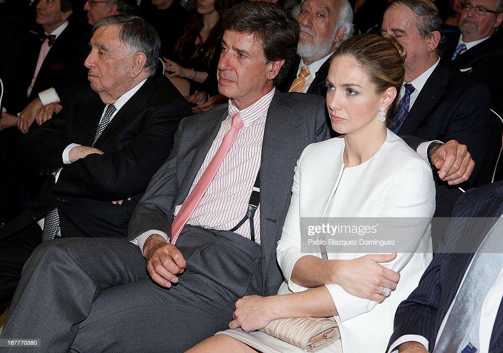 Cayetano Martinez de Irujo and Genoveva Casanova attend 'Orange And Lemon' Awards ceremony at Sheraton Mirasierra Hotel on April 29, 2013 in Madrid, Spain.