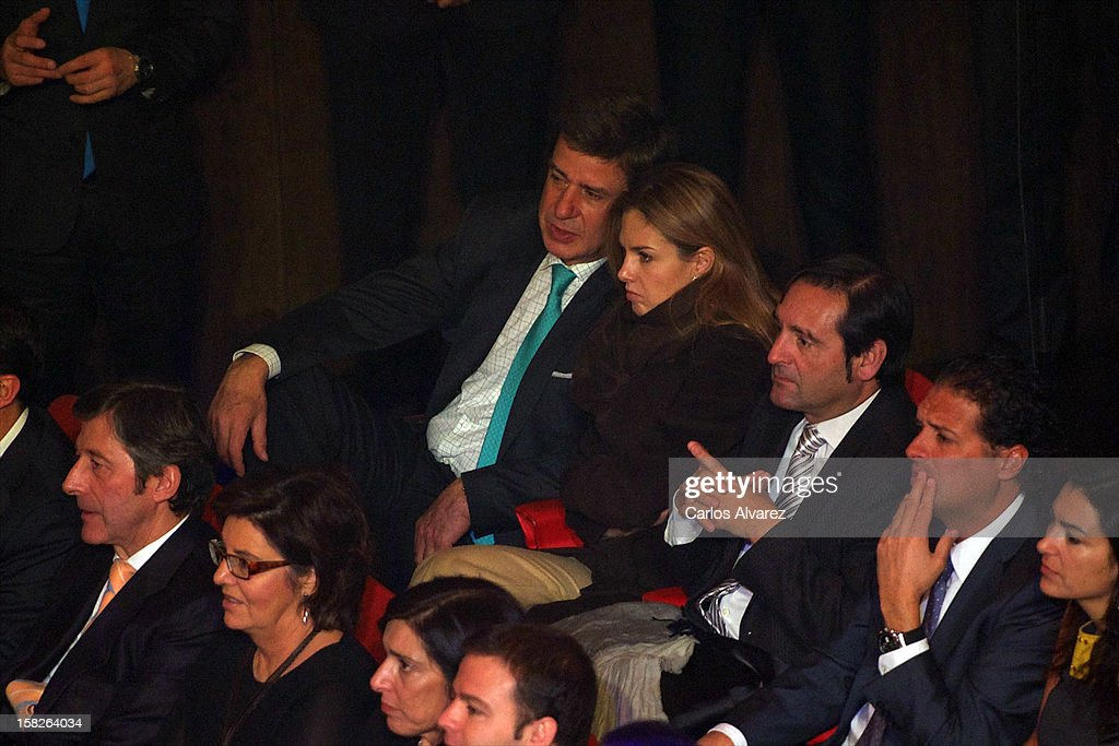 Cayetano Martinez de Irujo and Genoveva Casanova attend Spanish Olympic Commitee Centenary Gala at El Canal theater on December 12, 2012 in Madrid, Spain.