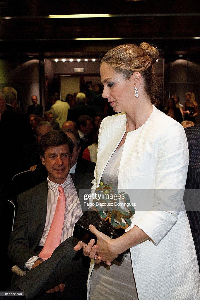 Cayetano Martinez de Irujo and Genoveva Casanova attends 'Orange And Lemon' Awards ceremony at Sheraton Mirasierra Hotel on April 29, 2013 in Madrid, Spain.