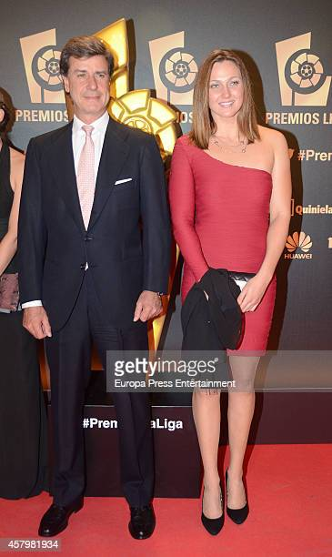 Cayetano Martinez de Irujo and Melanie Costa attend the LFP Awards Gala 2014 on October 27 2014 in Madrid Spain