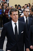 Cayetano Martinez de Irujo arrives to Cristo de los Gitanos Church to deposit the ashes of Spain's Duchess of Alba on November 21 2014 in Seville...