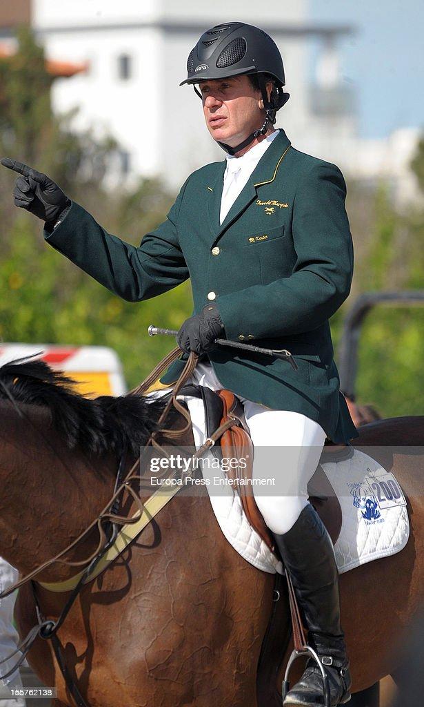 Cayetano Martinez de Irujo attends CSI2 Horse Race at Centro Ecuestre Oliva Nova on October 27, 2012 in Valencia, Spain.