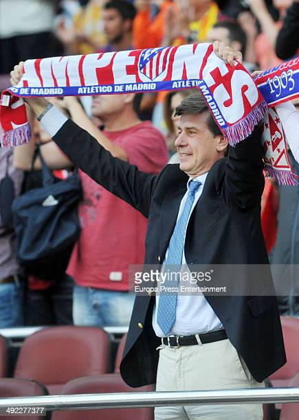 Cayetano Martinez de Irujo attends FC Barcelona v Club Atletico de Madrid the league final match at Camp Nou on May 17 2014 in Barcelona Spain