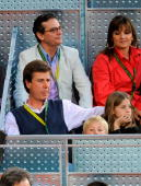 Cayetano Martinez de Irujo attends Madrid Open tennis tournament at La Caja Magica on May 15 2009 in Madrid Spain