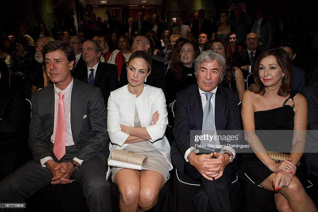 Cayetano Martinez de Irujo, Genoveva Casanova, Angel Nieto and Ana Rosa Quintana attends 'Orange And Lemon' Awards ceremony at Sheraton Mirasierra Hotel on April 29, 2013 in Madrid, Spain.