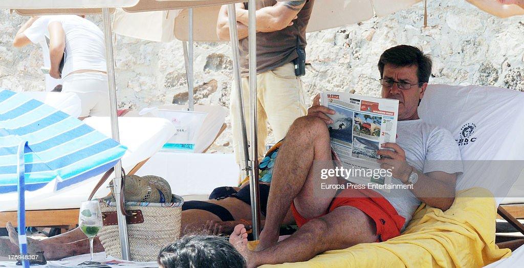 Cayetano Martinez de Irujo is seen on August 17 2013 in Ibiza Spain