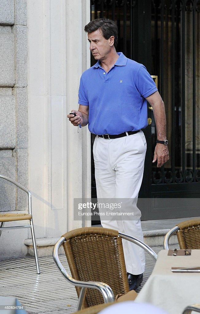 Cayetano Martinez de Irujo is seen on July 25 2014 in Madrid Spain