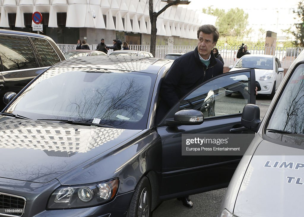 Cayetano Martinez de Irujo leaves court on January 14, 2013 in Madrid, Spain. The bullfighter Francisco Rivera and ex wife Duchess of Montoro Eugenia Martinez de Irujo are fighting for the custody of their daughter.