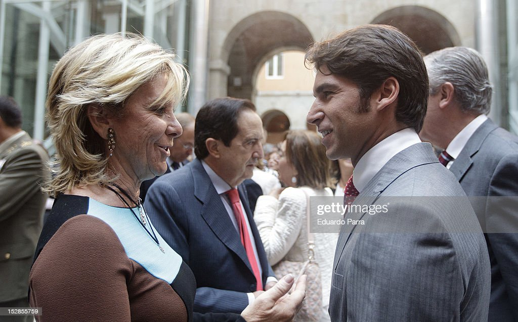 Cayetano Rivera and Esperanza Aguirre attend Ignacio Gonzalez's appointment as the head of Madrid's regional government on September 27, 2012 in Madrid, Spain.