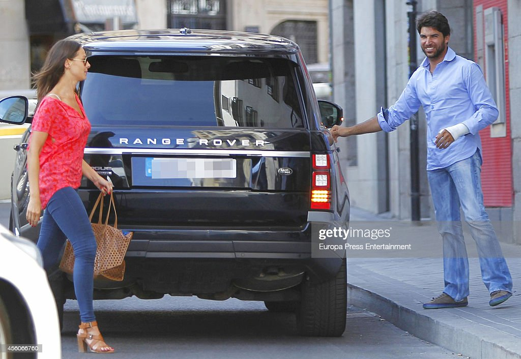 Cayetano Rivera and Eva Gonzalez are seen on September 04 2014 in Madrid Spain