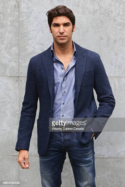 Cayetano Rivera arrives at the Giorgio Armani show during the Milan Fashion Week Spring/Summer 2016 on September 28 2015 in Milan Italy