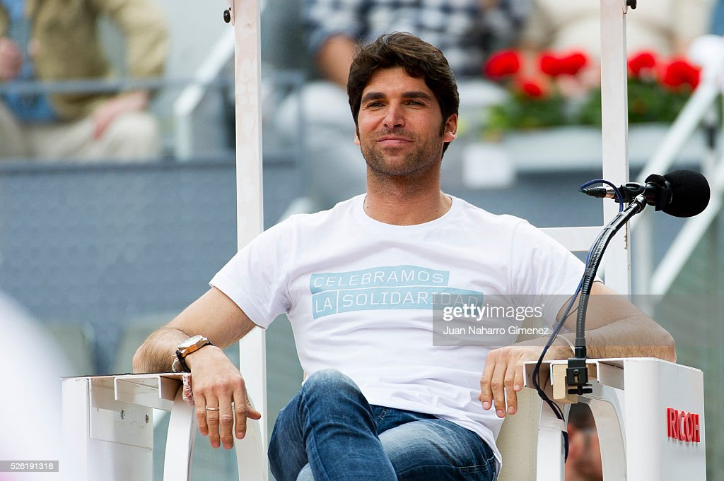 Cayetano Rivera attends Charity day tournament during Mutua Madrid Open at Caja Magica on April 29, 2016 in Madrid, .