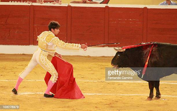 Cayetano Rivera attends 'Corrida de los Candiles' bullfights in Marbella on August 6 2010 in Marbella Spain