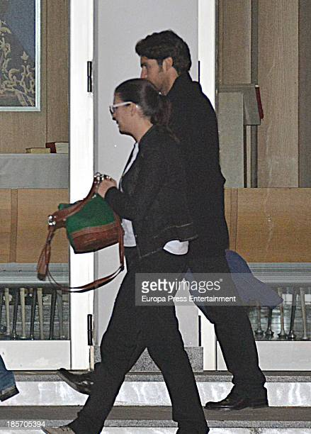 Cayetano Rivera attends the funeral chapel for Tv presenter Eva Gonzalez's father Manuel Gonzalez on October 23 2013 in Seville Spain