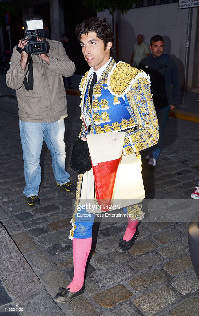 Cayetano Rivera is seen after bullfighting on April 23 2012 in Seville Spain