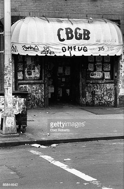 Photo of CBGBs Club founded in 1973 by Hilly Krystal Due to close indefinitely October 31st 2006