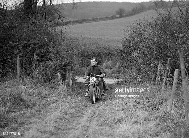 600 cc Ariel Square Four of HLS Sikes competing in the InterVarsity Trial November 1931 Ariel Square Four 600 cc Event Entry No 12 Rider Sikes HLS...