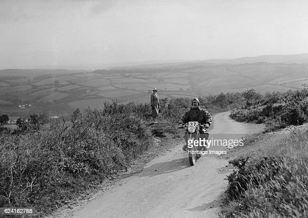 494 cc BMW motorcycle competing in the MCC Torquay Rally 1938 Artist Bill BrunellBMW m/cycle 494 cc Event Entry No 27 Place MCC Torquay Rally Date...
