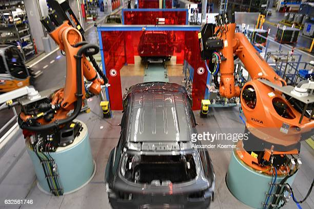 Class sedans in production on the assembly line of MercedesBenz on January 24 2017 in Bremen Germany Daimler AG which owns Mercedes is scheduled to...